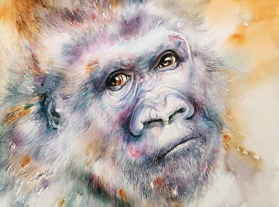 Pete_Gorilla Watercolor