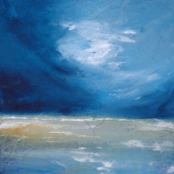 Seascape 2 blue and white coastal sea