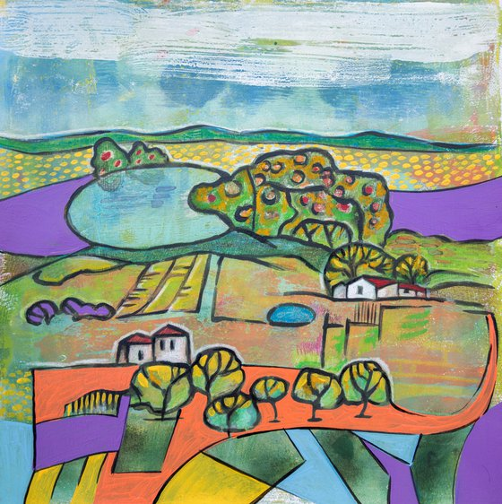 Seasonal Landscape on paper 4
