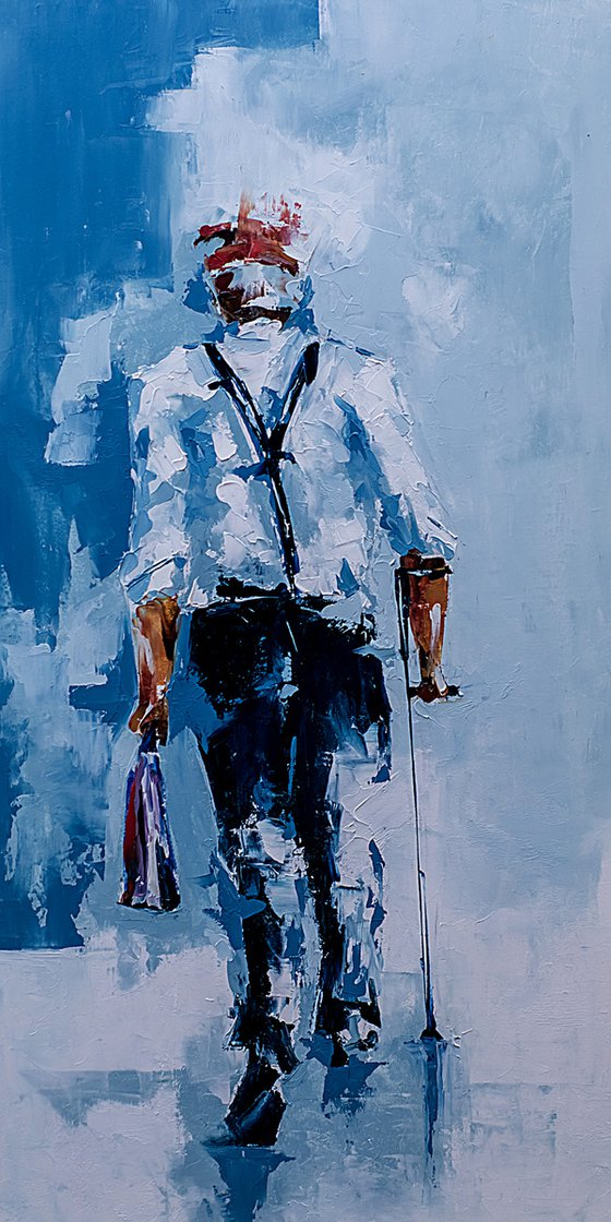 Old man. Original oil painting work