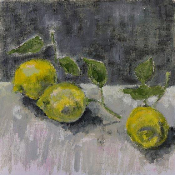 Sketch of three lemons