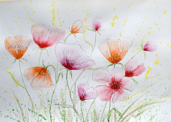 """Watercolour Flower's composition #12"" 41 х 29.5 (A3 size)"