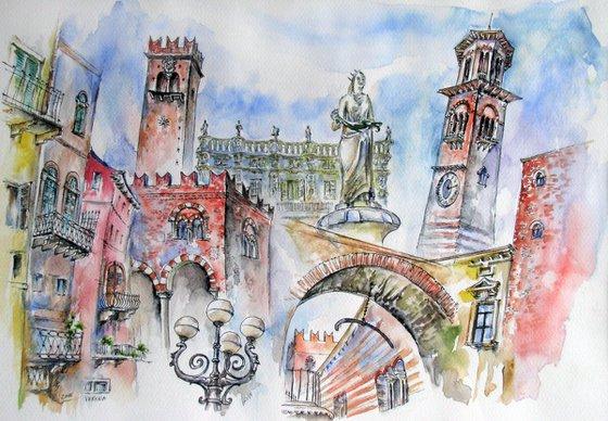 Walk through the city of love - Verona
