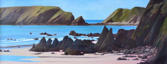 Raggle Rocks at Marloes Sands