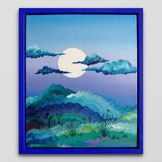 Full Moon & Ocotillos