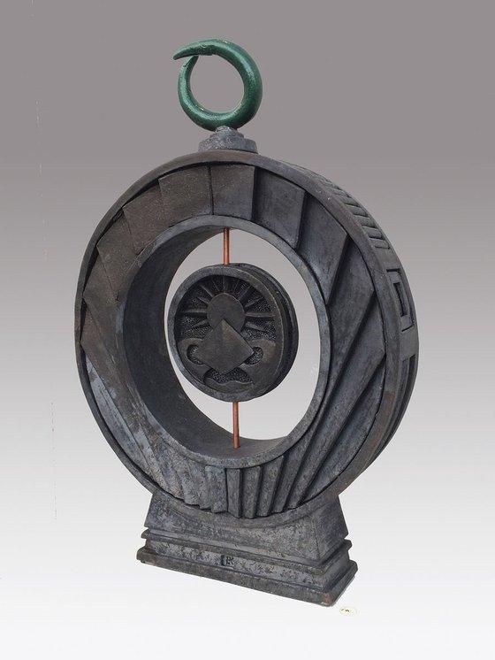 'Reflection of Well Being' Raku Fired Sculpture