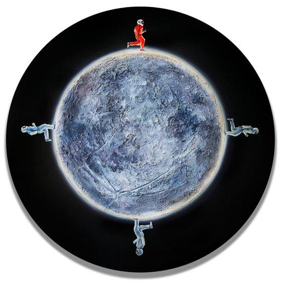 THE MOONLIGHT MARAPHON / Space / Meteorite / meteor /  circle / space /round / universe / stars