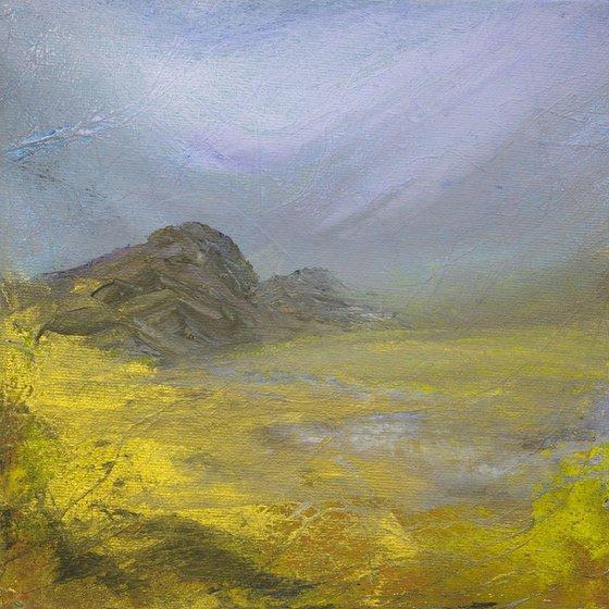 Lochan Ordha, the golden lake, Scottish landscape.