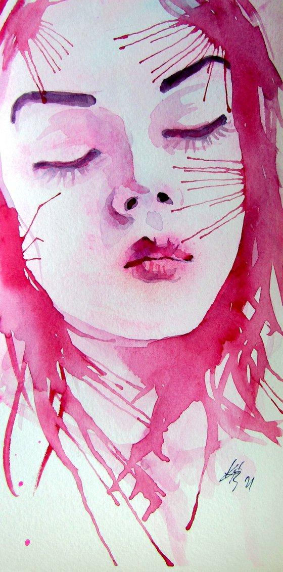 Dreamer girl /25 x 12 cm/