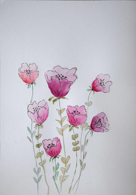 """Watercolour Flower's composition #9""21 х 29.7 (A4 size)"
