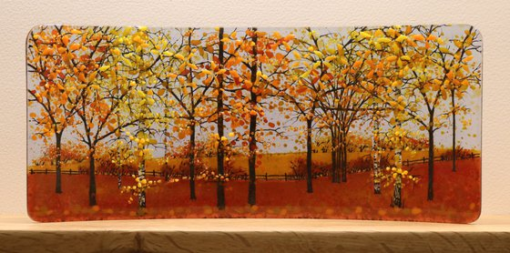 Glass Autumn Field Half Curve (Made to Order)