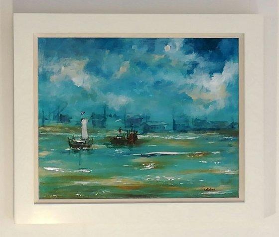 Dutch Barge at Anchor