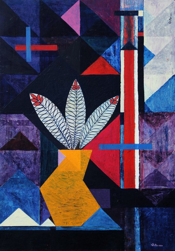 Still Life With Leaves (70x100 cm)