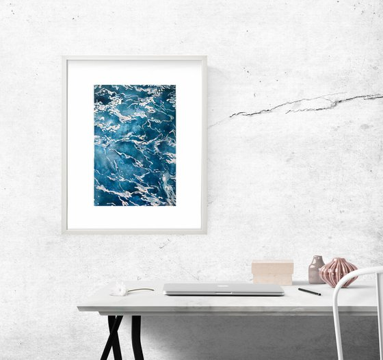The Sea, Framed - simple watercolor (2020)