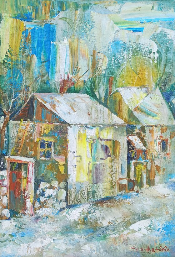 Winter(20x30cm, oil painting, ready to hang)
