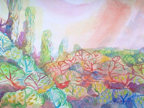 Painting   Watercolor   Summer V