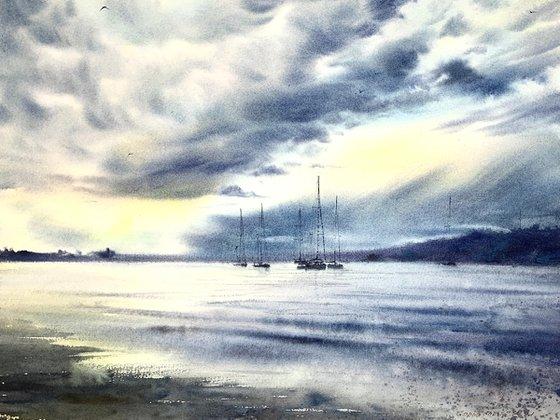 Yachts at anchor #7