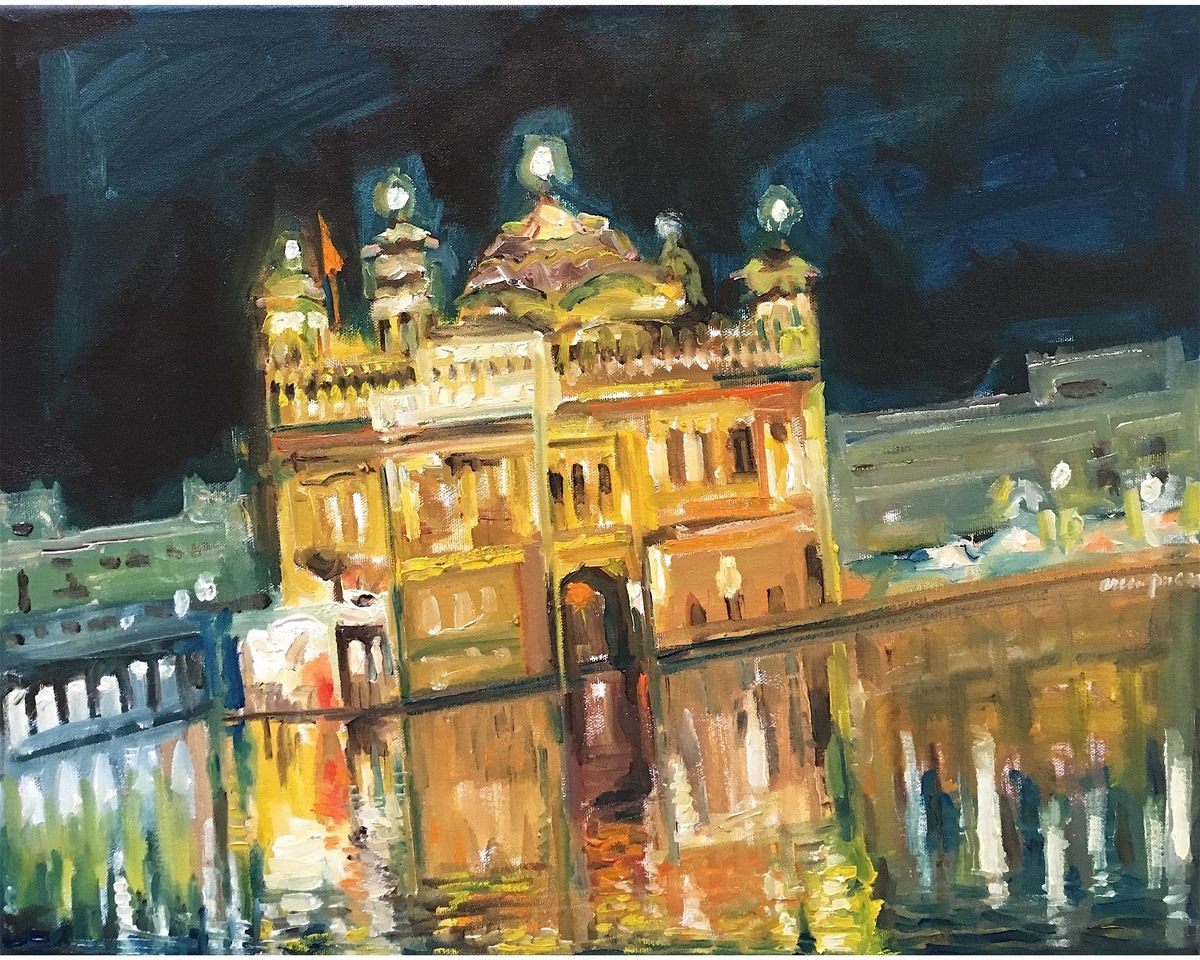 golden temple 2017 oil paintingarun prem  artfinder