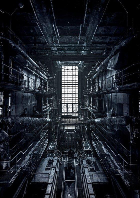 Abandoned power plant symmetry