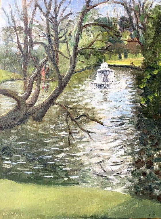 Lakeside vista An original oil painting