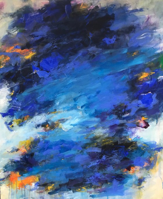Autum Blues - Extra large, contemporary painting