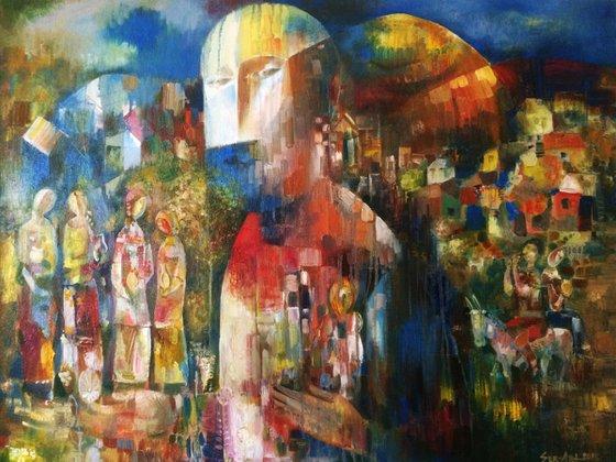 Komitas - Armenian musician(75x95cm oil/canvas)