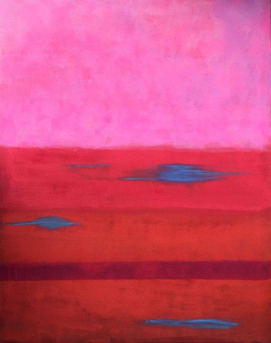 Abstract landscape  - 80x100 cm  - Calm lake
