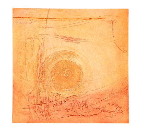 """Heike Roesel """"Spin 2"""" fine art etching, edition of 8 in variation"""