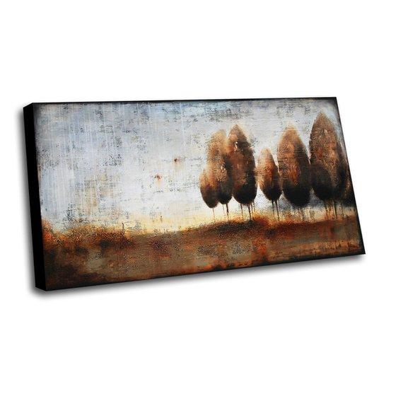 NOVEMBER RAIN - ABSTRACT ACRYLIC PAINTING XXL * 150 x 80 CM * LANDSCAPE TREES AUTUMN FALL