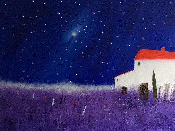 """Midnight In Provence"" 102x77x2cm"