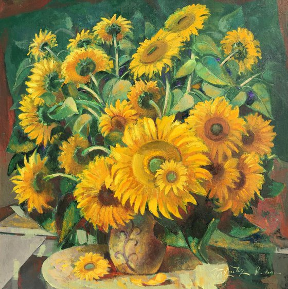 Sunflowers (100x100 cm)