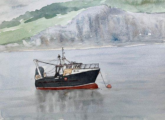 Fishing Boat off Lyme Regis