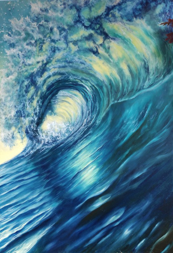 Don't bring me down, wave painting